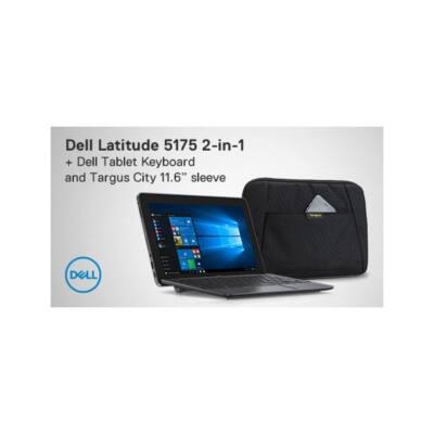 """DELL Latitude 5175 10.8""""FHD Touch, Core m3-6Y30 (2.20GHz),4GB,128GB SSD,4G/LTE,Win 10 Home + szitázott HUN klavi+ táska"""