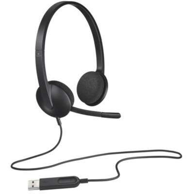 LOGITECH Fejhallgató 2.0 - H340 USB Mikrofonos